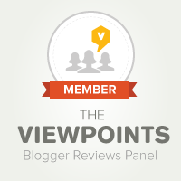square beige logo for members of The Viewpoints Blogger Reviews Panel