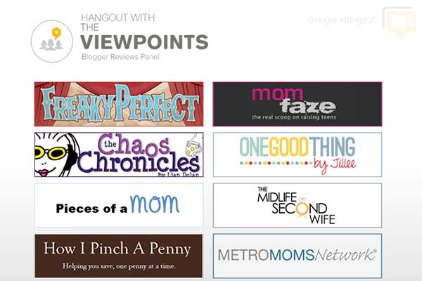 The Blogs that Make Up the Viewpoints Blogger Reviews Panel