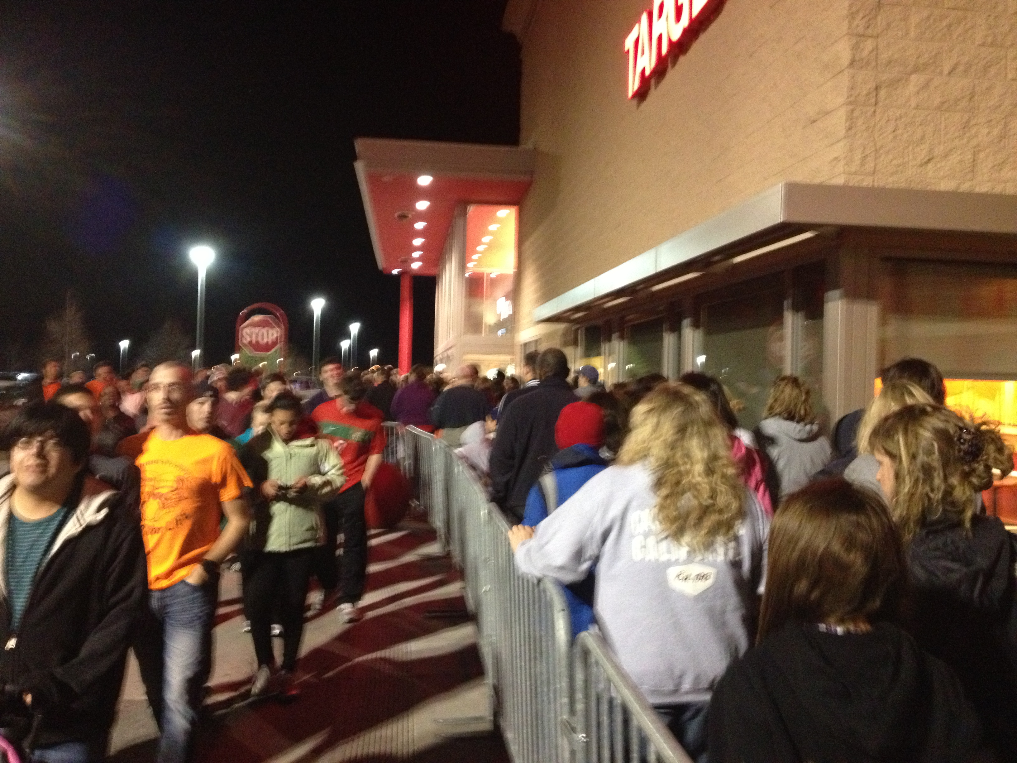 Customers wait for Black Friday deals outside Target in Kansas City