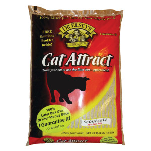 Dr. Elsey's Cat Attract Cat Litter is great for controlling dust.