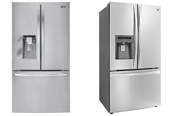 LG and Kenmore have both released mega capacity 33 cubic foot refrigerators.