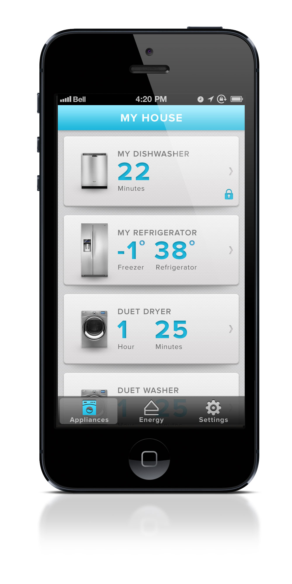 Monitor your appliances with Whirlpool app