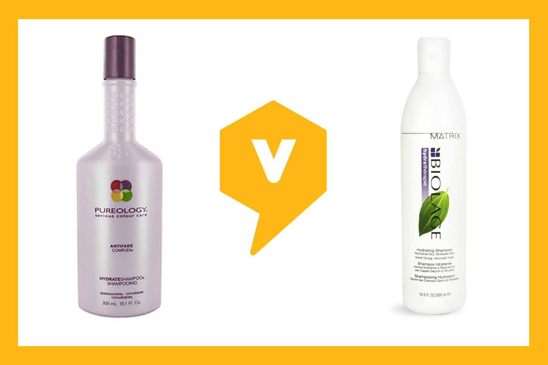 Head To Head Comparison Matrix Vs Pureology Hydrating Shampoos