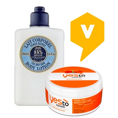 body lotion and body butter
