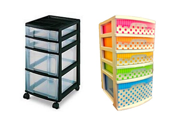 plastic drawers diy for college dorms