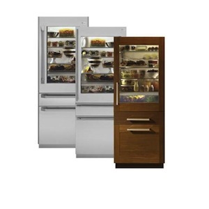 "GE Monogram 30"" Fully Integrated Glass-Door Refrigerator with Convertible Drawer"