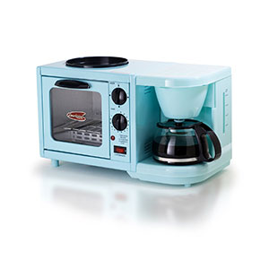 MaxiMatic 3-in-1 Multifunction Breakfast Deluxe Toaster Oven/Griddle/Coffee Maker