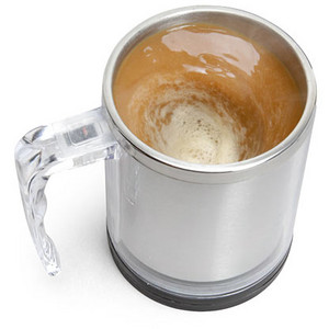 ThinkGeek Self-Stirring Coffee Mug